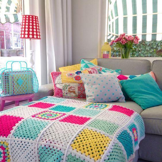 Crochê e Tricô na decoração da sua casa 40